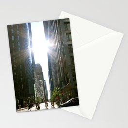 Sun Between Buildings Stationery Cards