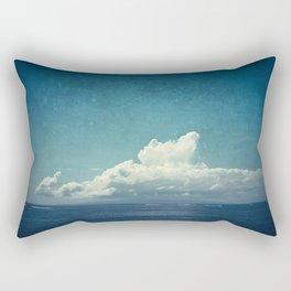 cloud over island Rectangular Pillow