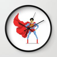 superman Wall Clocks featuring Superman by Bastonmag