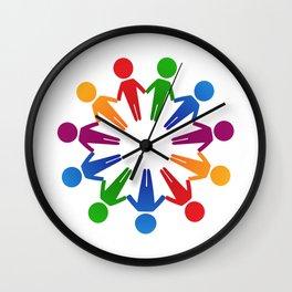 circle famille 4 Wall Clock