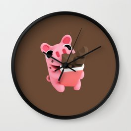 Rosa share chocolate brown Wall Clock