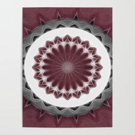 Mauve Kaleidoscope Art 1 Poster