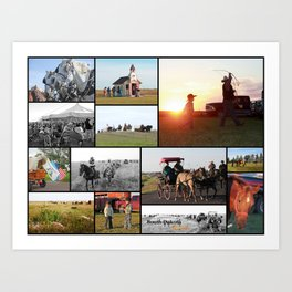 Trail Ride Collage 2014 Art Print