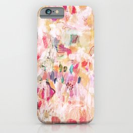 Layla Abstract Watercolor Floral iPhone Case