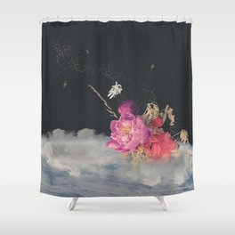 Space Florist Shower Curtain