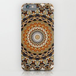Flower Of Life Mandala (Hickory) iPhone Case