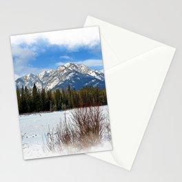 Scenic Cascade Mountain - Banff Alberta Stationery Cards