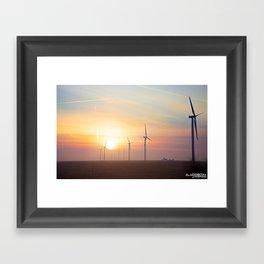 Indiana Sunrise Framed Art Print