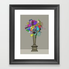 Fleur de Mechanique Framed Art Print