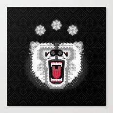 Polar Bear Geometric Canvas Print