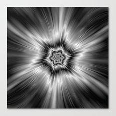 Black and White Star Burst Canvas Print