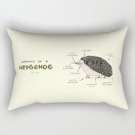 Anatomy of a Hedgehog Rectangular Pillow