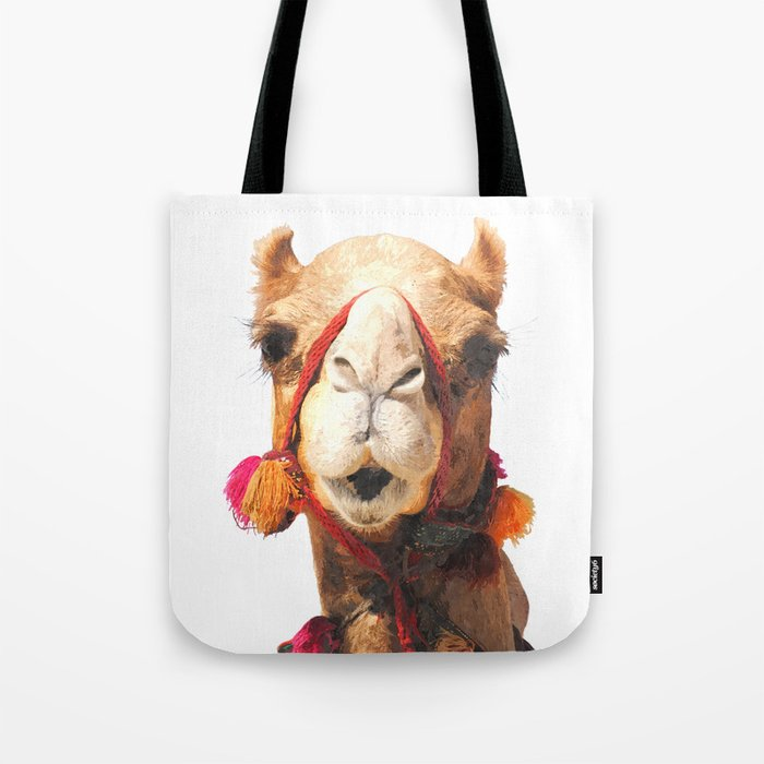 Camel Portrait Tote Bag