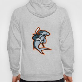 Hammerhead Ice Hockey Player Mascot Hoody