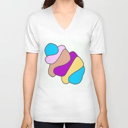Colors jellyfish Unisex V-Neck