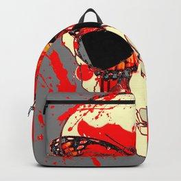 HALLOWEEN BLOODY SKULL & BUTTERFLY ART Backpack