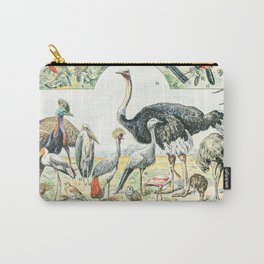 Exotic Birds // Oiseaux II by Adolphe Millot XL 19th Century Science Textbook Diagram Artwork Carry-All Pouch