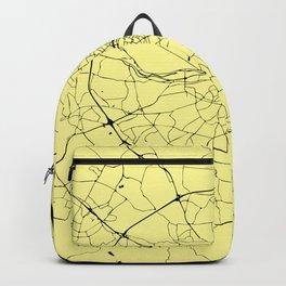 Yellow on Black Dublin Street Map Backpack