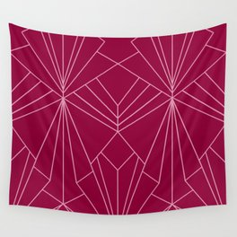 Art Deco in Raspberry Pink - Large Scale Wall Tapestry