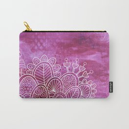 Pink Flower Garden Carry-All Pouch