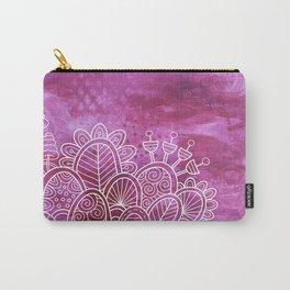 Pink Flower Garden Carry-All Pouch