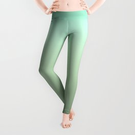 Pale Green Ombre Leggings