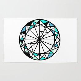 Sapphire blue diamond - circle Rug