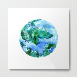 Earth Drawing Metal Print
