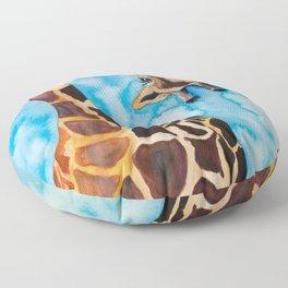 friendly giraffe Floor Pillow