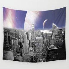 New New York : Galaxy City Wall Tapestry