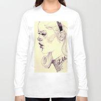 lolita Long Sleeve T-shirts featuring lolita by adria mercuri