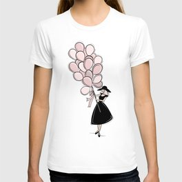 Vintage Inspired Pink Balloons T-shirt