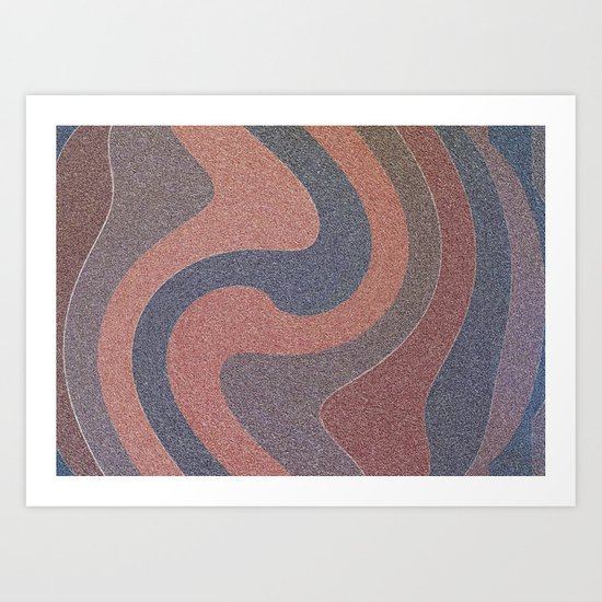 Random Red Curves Art Print