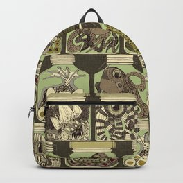 weird pickles vintage Backpack