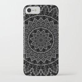 Black and White Lace Mandala iPhone Case