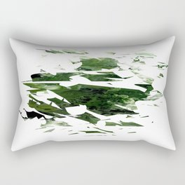 Abstract Acrylic Painting  Broken Glass THE FOREST --Modern art Rectangular Pillow
