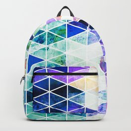 Grungy Bright Triangle Pattern Backpack