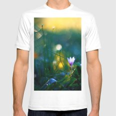 Waiting for Sunshine White MEDIUM Mens Fitted Tee