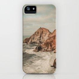 Devil Slides in Half-moon Bay.  iPhone Case