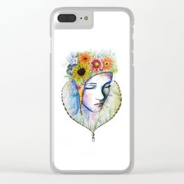 Flowers in my Mind Clear iPhone Case