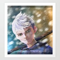 jack frost Art Prints featuring Jack Frost by Elisehill3