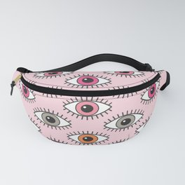 EYES WIDE OPEN - PASTEL PINKS Fanny Pack