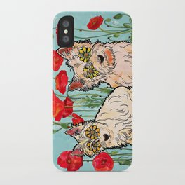 West Highland Terriers by RobiniArt iPhone Case