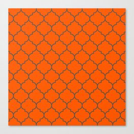 Imperial Trellis Winter 2019 Color: Unapologetic Orange Canvas Print