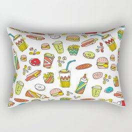 Awesome retro junk food icons Rectangular Pillow