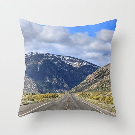 Hills Ahead Throw Pillow