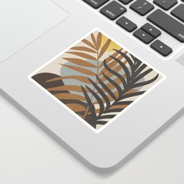 Abstract Tropical Art IV Sticker