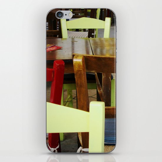 Colorful summer chairs iPhone & iPod Skin
