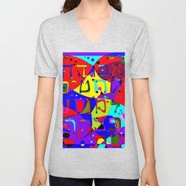 Alevbet, the Hebrew Alphabet Unisex V-Neck