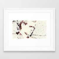 will ferrell Framed Art Prints featuring Gangster by  Maʁϟ